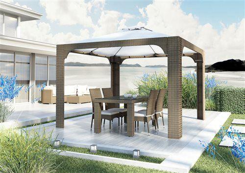 strato sada stoliciek rapallo stol 160 cm canopy baldachyn z umeleho ratanu pieskova