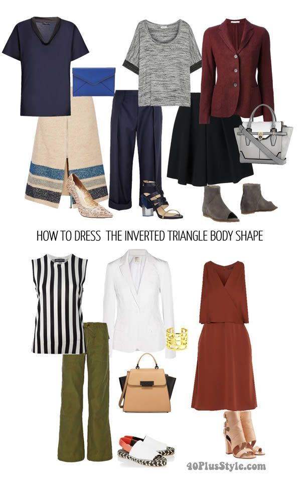 inverted triangle body shape looks stylish flattering | 40plusstyle.com