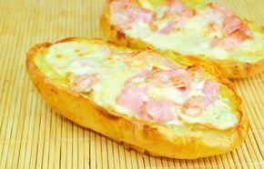 Cartofi umpluţi cu telemea și șuncă - Retete culinare - Romanesti si din Bucataria internationala