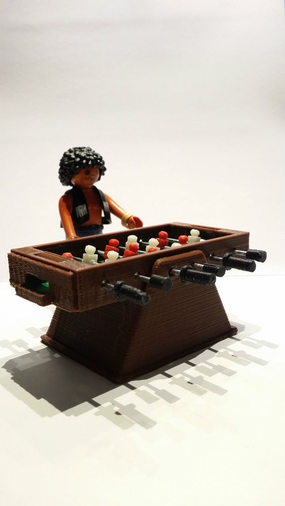 FUTBOLIN MINIATURA CUSTOM MINIATURE TABLE FOOTBALL FIGURA PLAYMOBIL NO INCLUIDA