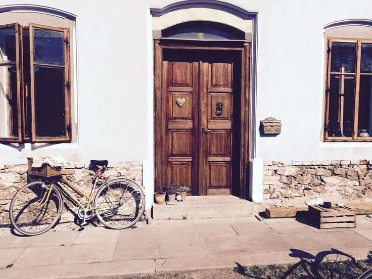 First spring ride :) #old #bike #spring #retro #vintage #house #wood #window #doors