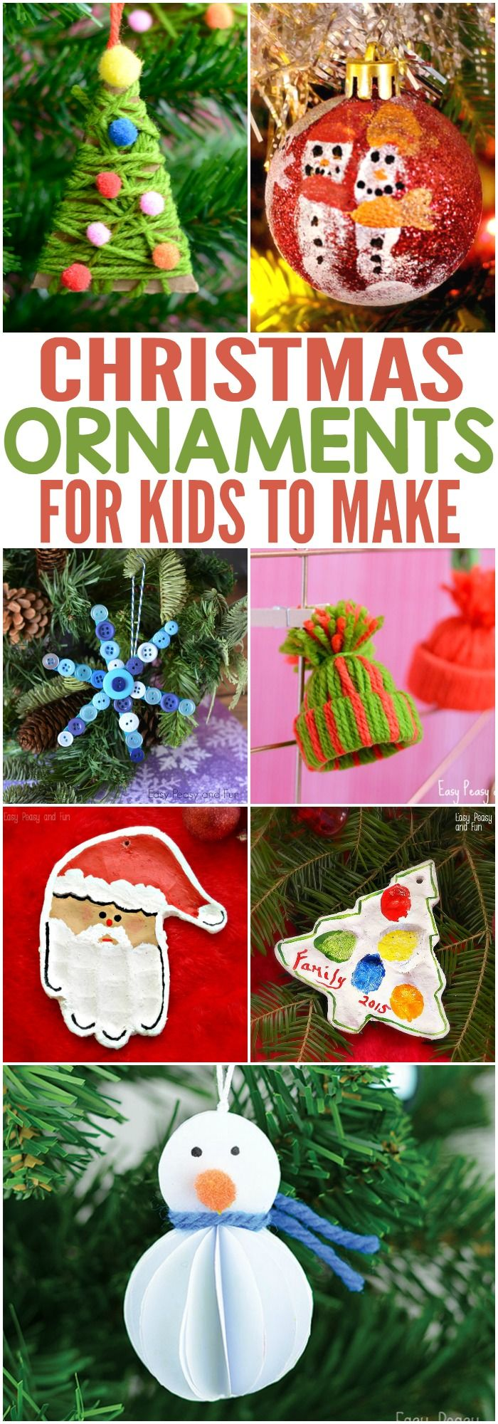 Christmas Ornaments for Kids to Make - more at megacutie.co.uk
