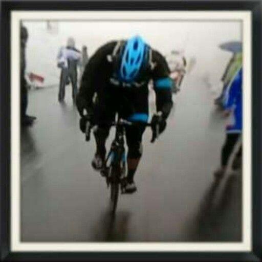 Dario Cataldo en el Stelvio. Giro de Italia 2014.