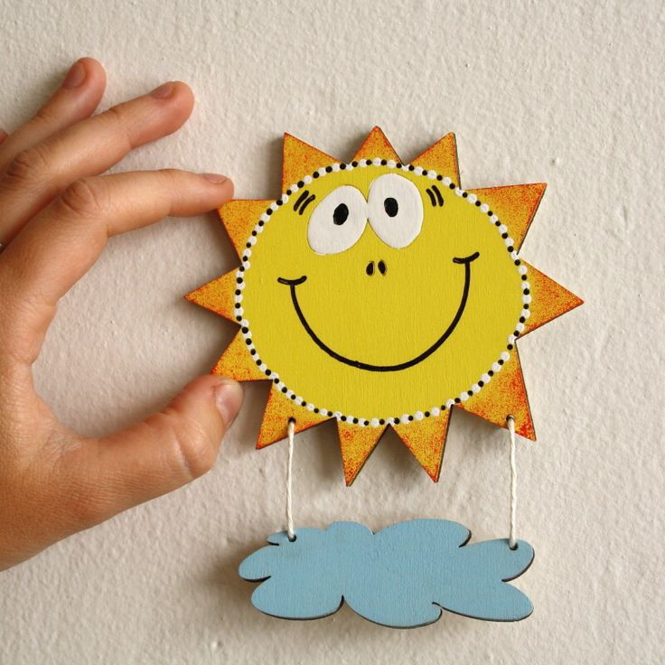 Sluníčková cedulka na dveře