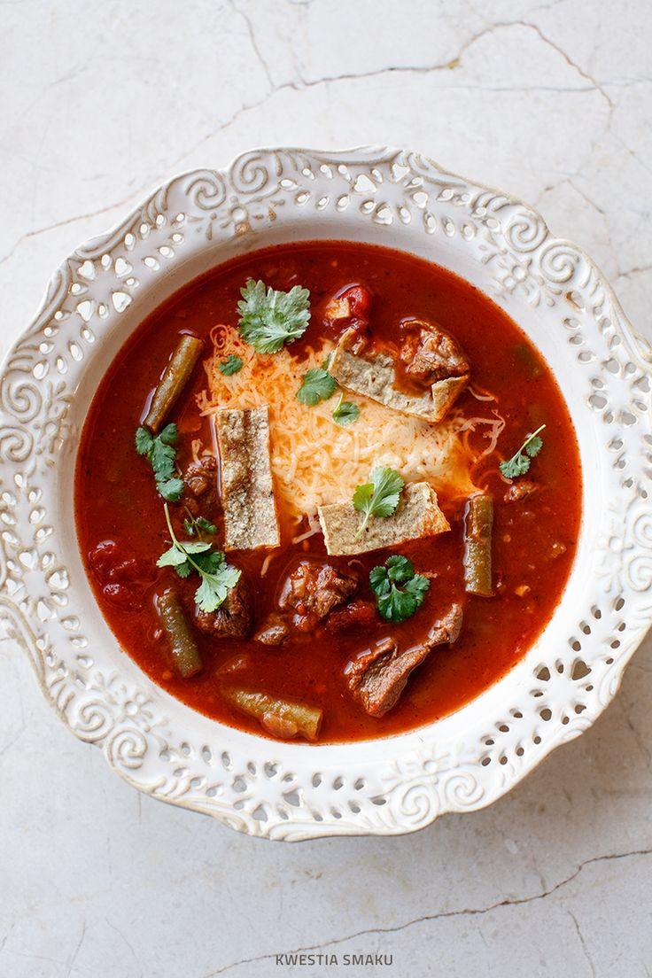 Meksykańska zupa z wołowiną