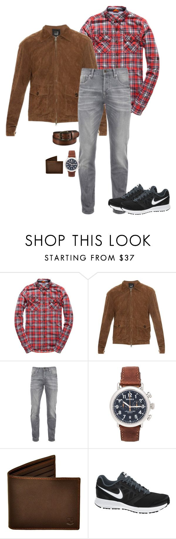 """""""?????????????????"""" by bumfuzzled2 ❤ liked on Polyvore featuring Superdry, Dunhill, Scotch & Soda, Shinola, NIKE, Uniqlo, men's fashion and menswear"""