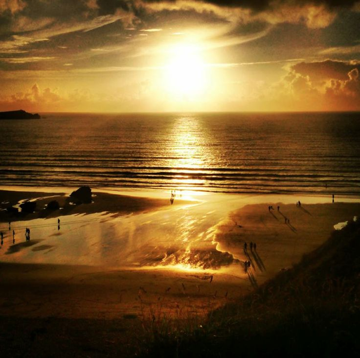 Sunset Fistral Beach, Newquay, Cornwall July 2013. #LoveNewquay