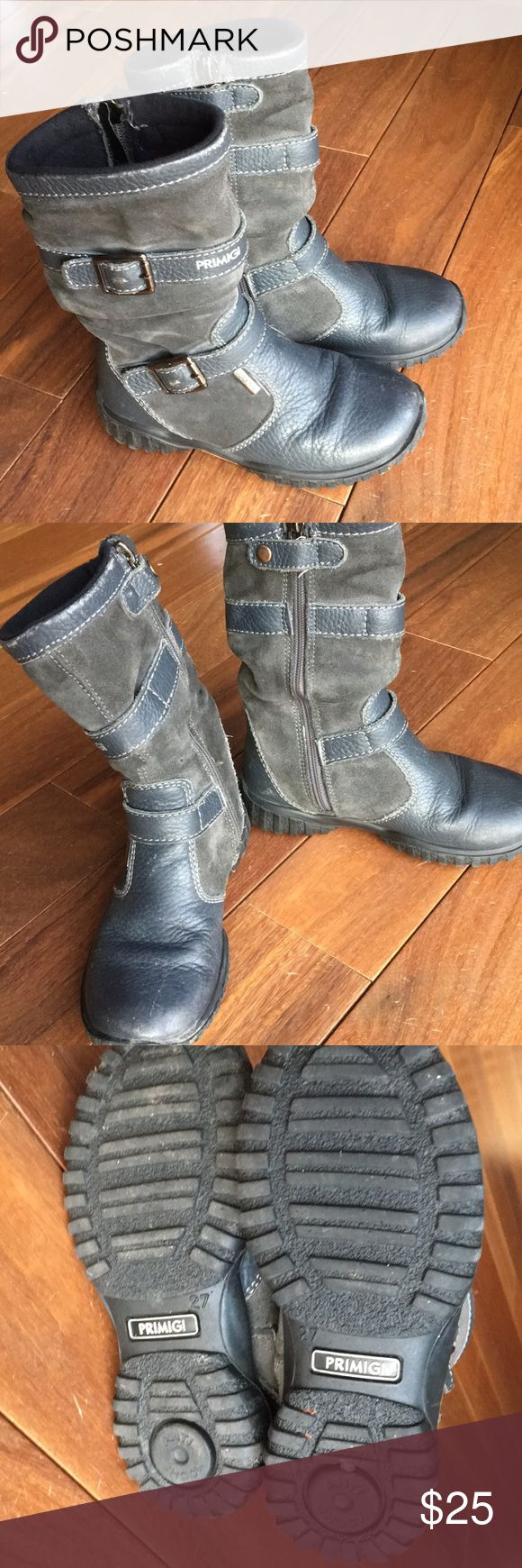 Primigi Girls Toddler GORE TEX Leather Boots EUC Gore Tex Leather Boots. European size 27 (US Size 9/10).  Waterproof, darling and warm! Primigi Shoes Boots