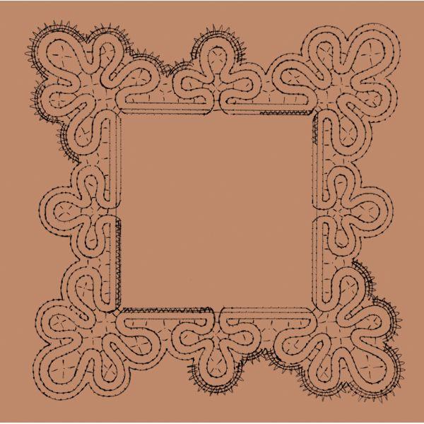Disegno Bomboniera n. 006 - Il Giardino dei Punti, Circolo di ricami, pizzi e decori
