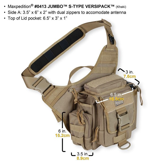 Maxpedition Jumbo Versipack - S Type - Choice of Colours