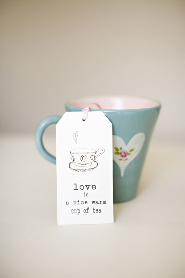 I prefer a nice HOT cup of tea... but lovely all same!