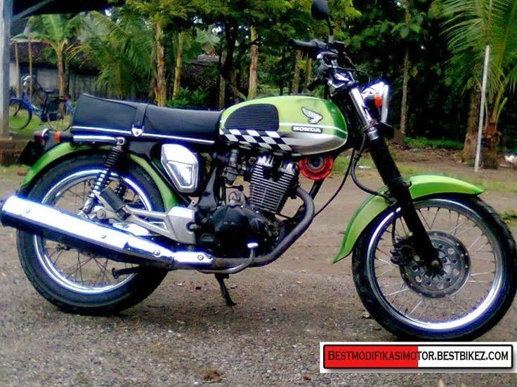 Modifikasi Motor Jadul: Contoh Modifikasi Honda CB 100 Classic untuk Inspi...