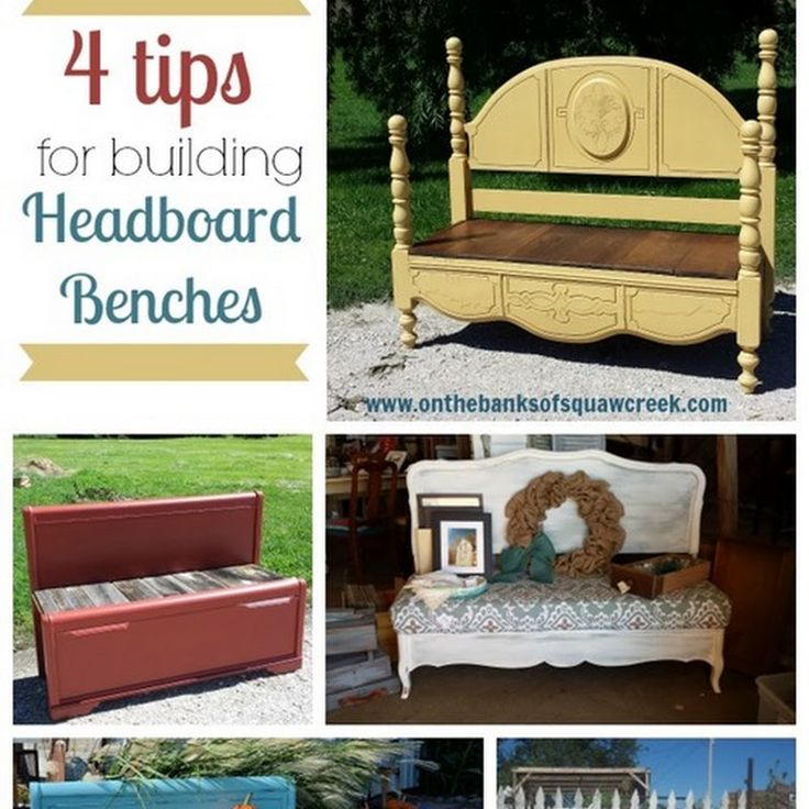 Headboard Benches: 4 Tips and Tricks | On the Banks of Squaw Creek: Headboard Benches: 4 Tips and Tricks