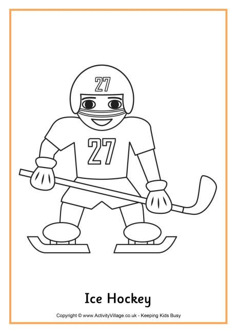 Ice Hockey colouring page