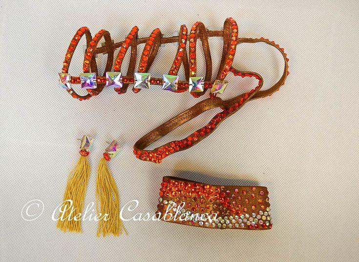 LK-JAF8 フリンジがよく踊るブロンズ、ゴールド&赤のラテンドレス(9号)   Atelier Casablanca -ダンスドレスの部屋- - 楽天ブログ