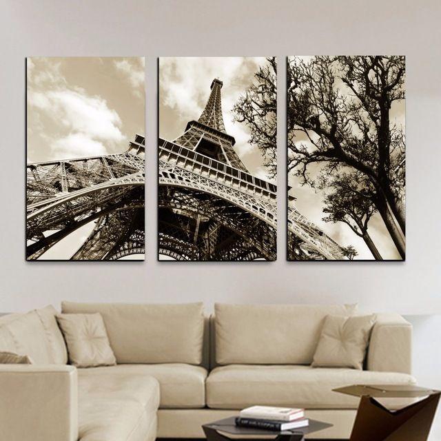 M s de 17 ideas fant sticas sobre pintura de torre eiffel - Decoracion con cuadros grandes ...
