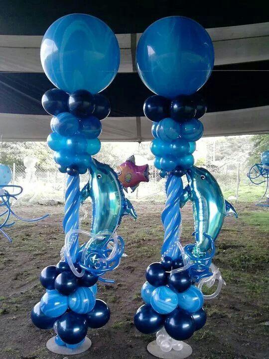 Dolphin Columns Luau Underwater Theme Parties