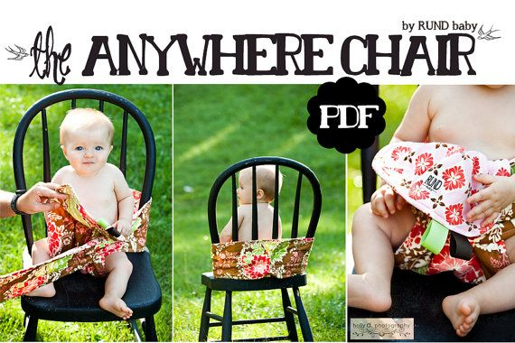 PDF pattern – Anywhere chair – fabric travel high chair works in shopping cart as well