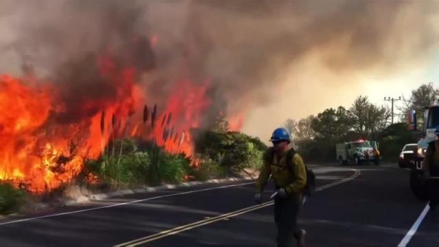 Canyon fire at Vandenberg Air Force Base...September 2016