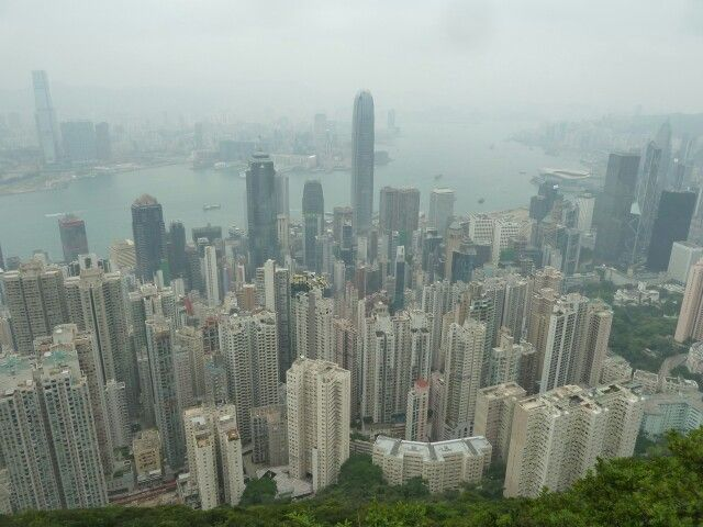 mytripadvice: Hong Kong Take the funicular or a cab to the Peak for view of Hong Kong with Kowloon in the background.