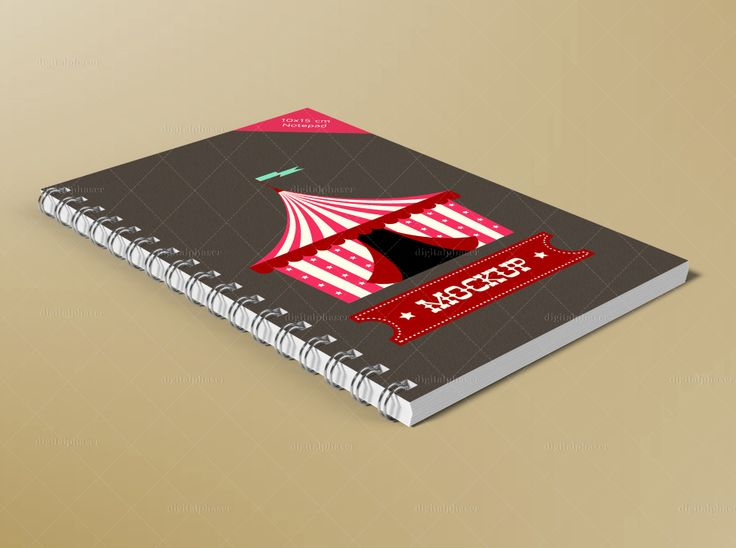Spiral Bound Brochure / Notepad #Mockup @digitalphaser
