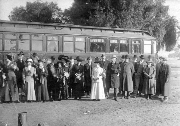 December 16, 1911 was a big day in the life of people who lived in the San Fernando Valley: it was the first time a Red Car traveled from Los Angeles to North Hollywood. The line opened up convenient access to and from the Valley, which back then was largely farms and fields but would soon be developed into vast housing tracts.