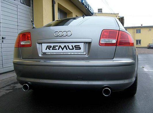 Znalezione w archiwum :)  Przed Wami kolejna realizacja sprzed długiego czasu odnaleziona w zakamarkach naszych dysków. Audi A8 otrzymało dwa sportowe tłumiki tylne wraz z okrągłymi, chromowanymi końcówkami.  Taki zestaw gwarantuje nie tylko poprawę dźwięku w największej limuzynie Audi ale również dodaje trochę agresywności tylnej partii auta 💪  Dystrybutor REMUS INNOVATION w Polsce: Remus Polska http://www.remus-polska.pl/