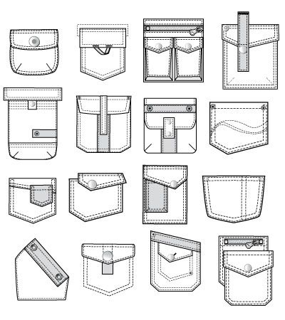 vector fashion pockets