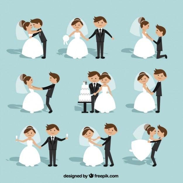 Coleção dos pares do casamento Plano | Baixar vetores grátis