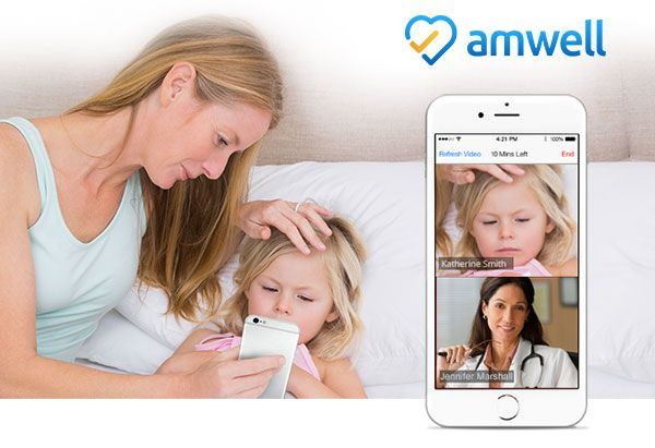Sick at home and can't make it to the doctor?  No worries!  Visit with a doctor online through Amwell's health app.  No more waiting in line, having to reschedule or even get out of bed.  See the doctor online and rest the remaining part of the day. #momsloveamwell ad