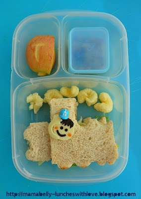 Choo-Choo Train Bento: Choochoo Lunches, Kids Lunches, Bento Bloggers, Easylunchbox Minis, Lunches Boxes, Minis Dipper, Choochoo Training, Mamabelli Lunches, Luncheswithlov Easylunchbox