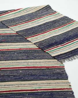 Beautiful stripes in old vintage rag rug from Sweden