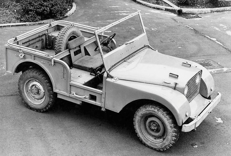 This photo of the original Land Rover prototype was taken in 1948 when it was just 4 months old and toward the end of its life as a concept vehicle. Do you know its name? #LandRover