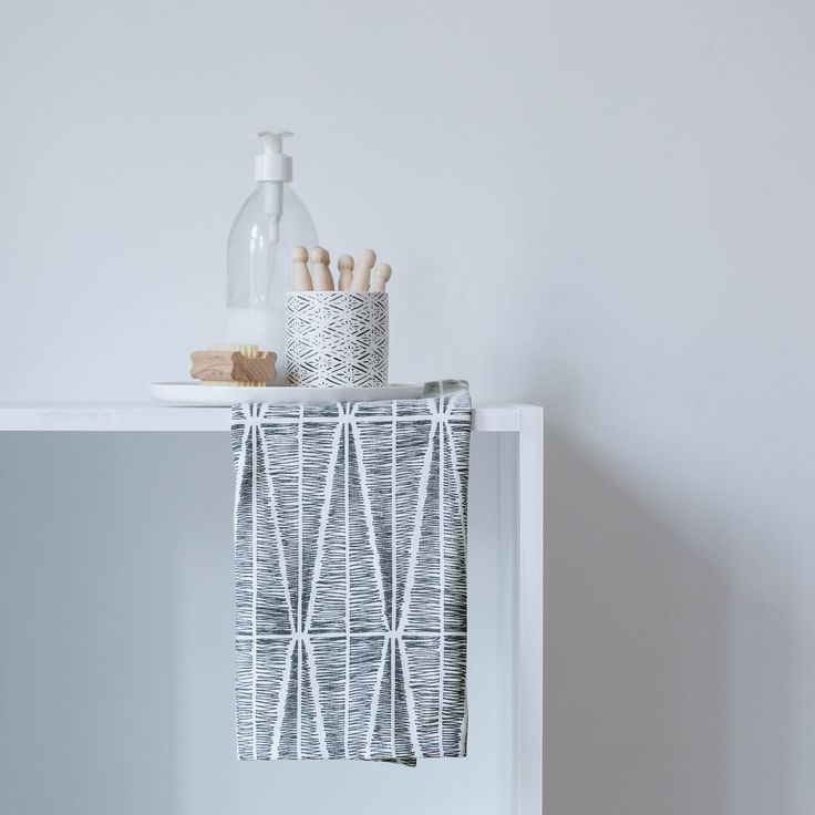 Sylvia | tea towel | slate grey