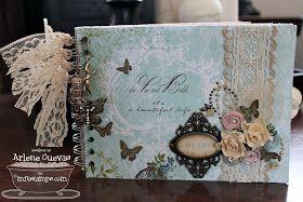Butterfly Kisses: Shabby Chic Mini Album & Card