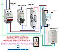 Esquemas eléctricos: Esquema conexión de calentador de agua con reloj h...
