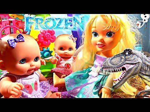 ❤ Принцесса Эльза Холодное сердце похищение анимация Динозавр похитил Эл...