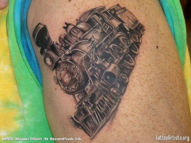 207 best train tattoo images on pinterest train tattoo tattoo ideas and trains. Black Bedroom Furniture Sets. Home Design Ideas
