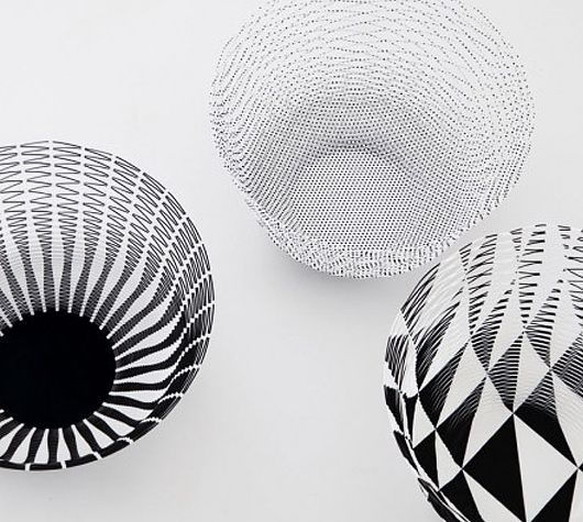 Airvase from Upon a fold: Paper Vases, Airvase Paper, Patterned Airvases, Airvase Black, Products, Paper Airvases, Air Vases, Airvase Designed, Torafu Architects