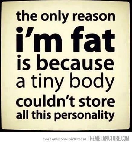 The reason I'm fat…