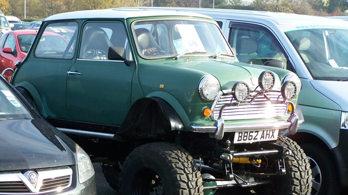 Monster Mini Cooper - my first car was a 1966 Mini - what a hoot that thing was