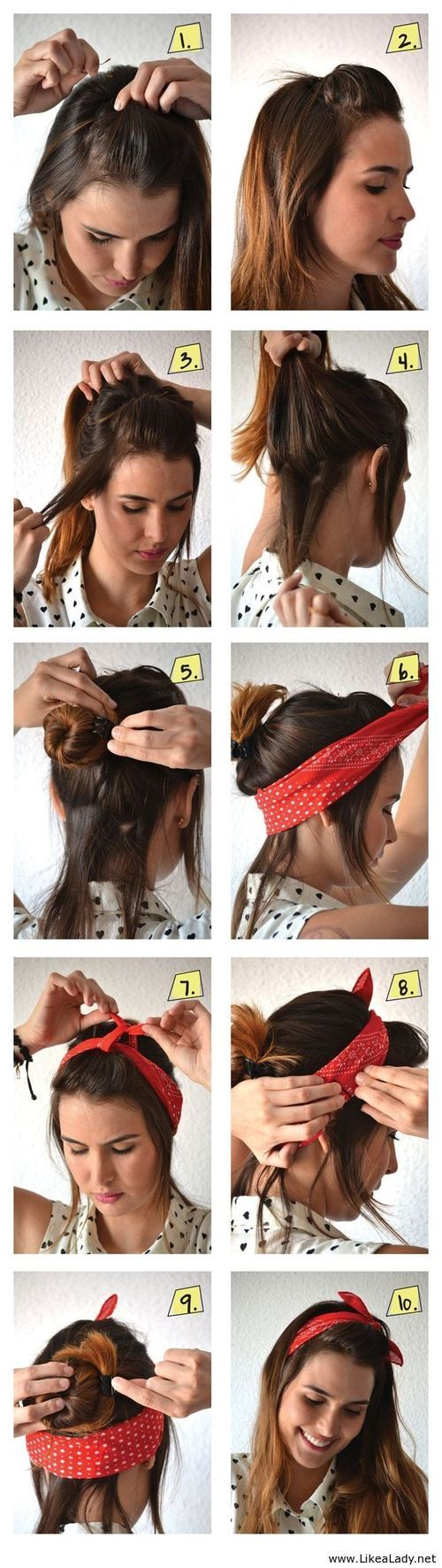 A scarf like a hair accessory - LikeaLady.net on imgfave