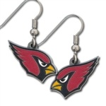 NFL Dangle Earrings - Arizona Cardinals