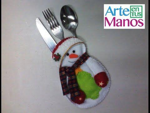 Muñeco de Nieve Porta-cubierto Navideño (Mono de Nieve) - YouTube