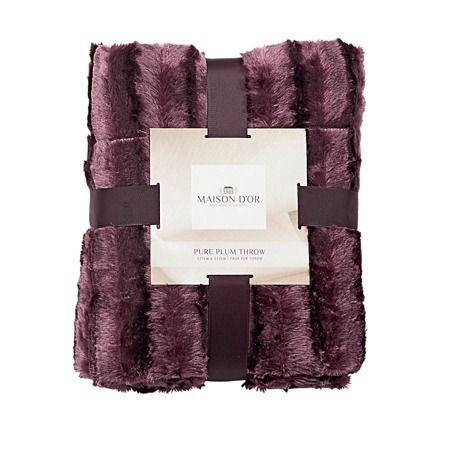 Maison d'Or Throw Ridge Plum - Cushions & Throws - Living Room - Homewares - The Warehouse