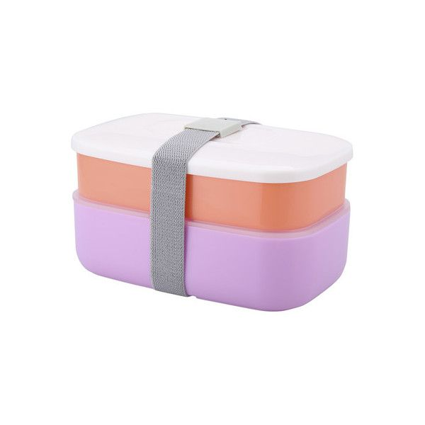 2 Compartment Lunch Box with Cutlery - Brights | Kmart (24 ILS) ❤ liked on Polyvore featuring home, kitchen & dining, food storage containers and compartment lunch box