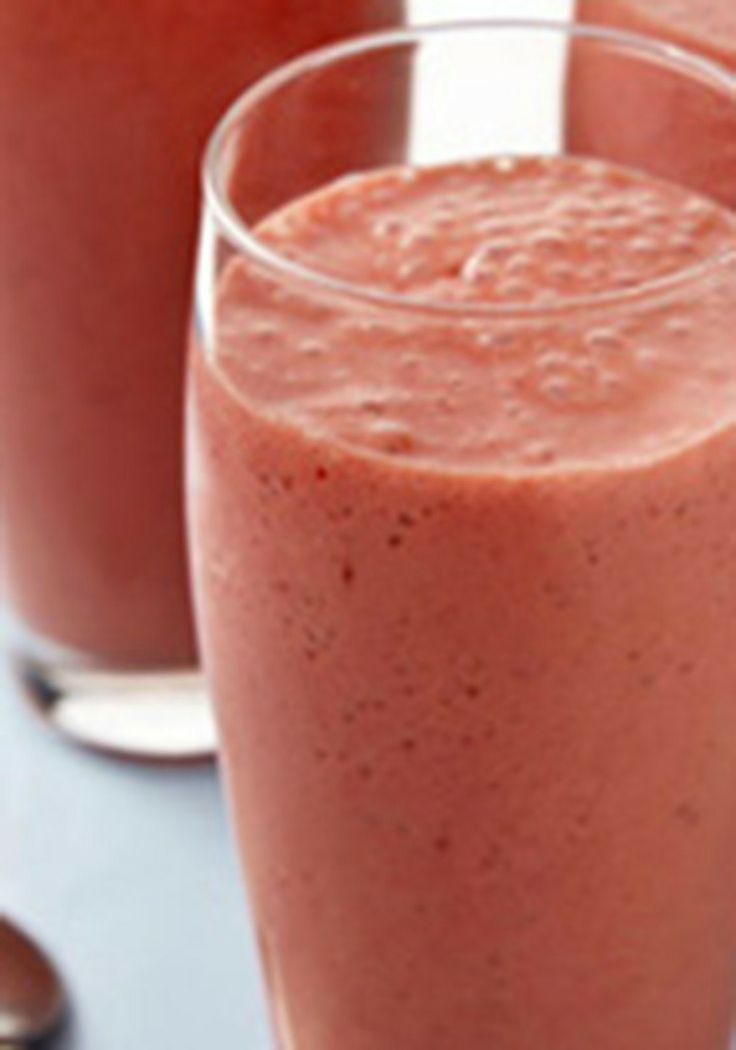 Strawberry-Yogurt Smoothie — Just four ingredients and 5 minutes stand between you and the best smoothie recipe you've ever had!
