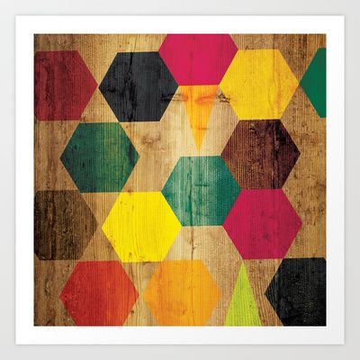 Wood Prints Art Print by Simi Design - $14.56