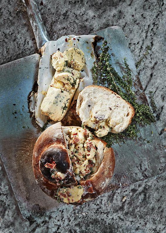 Bacon, honey and Thyme Butter / Photographs @adel_ferreira / Production, Recipes & Styling: Maranda Engelbrecht / Location: Babylonstoren #recipes #foodstyling #foodideas #bacon #honey #thyme #bread #butter