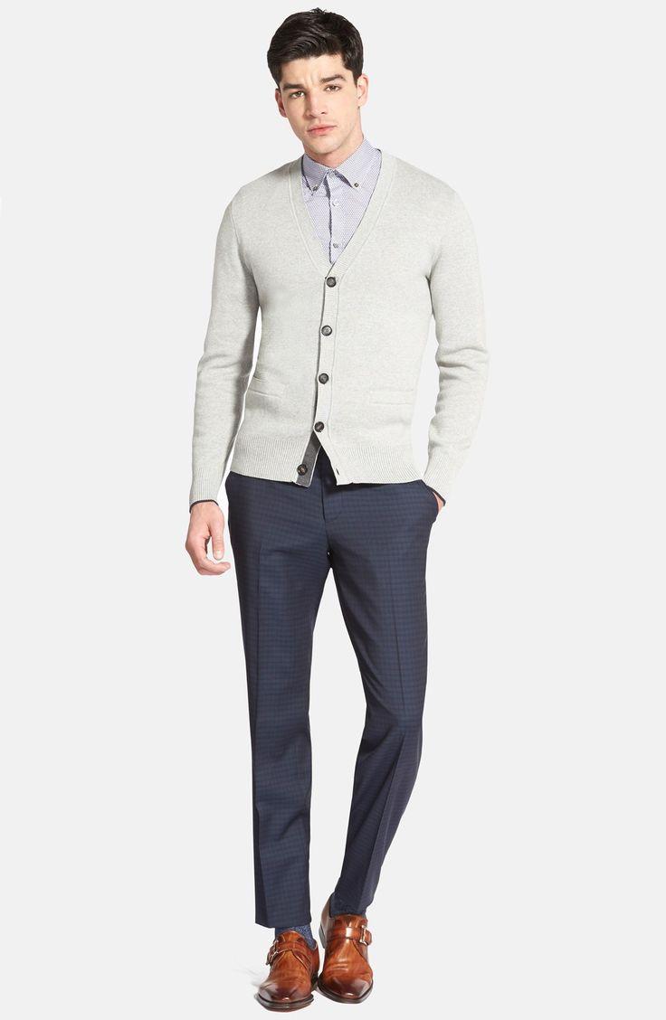 Jake Spade Cardigan, Ted Baker London Sport Shirt & BOSS Trousers